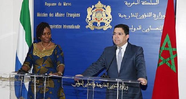 بوريطة يشيد بالتضامن الدائم والتعاون المثمر بين المغرب وسيراليون