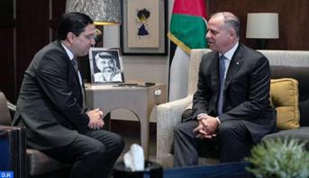 Le Prince Fayçal ben Al-Hussein reçoit le ministre des Affaires étrangères et de la Coopération internationale