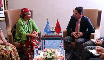 بوريطة يجري مباحثات بمراكش مع نائبة الأمين العام للأمم المتحدة