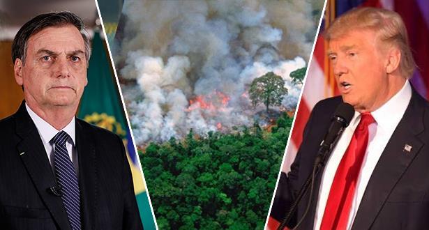 حرائق الأمازون .. قرار رئاسي وترامب يتدخل