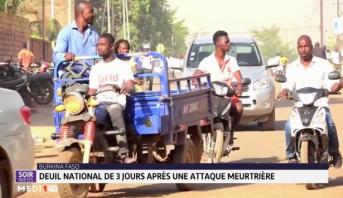 Burkina Faso: deuil national de 3 jours après une attaque meurtrière