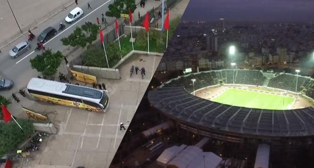 """مشاهد رائعة من كاميرا """"درون"""" .. ملعب محمد الخامس يترقب المباراة النهائية لـ """"شان2018"""""""