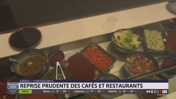 Covid-19: reprise prudente des cafés et restaurants