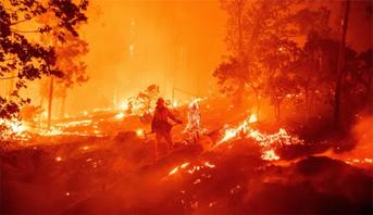 مصرع ما لايقل عن 19 شخصا إثر حرائق غابات كاليفورنيا