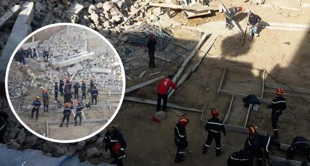انهيار سور في الدار البيضاء .. استخراج جثتي عاملا بناء من تحت الأنقاض