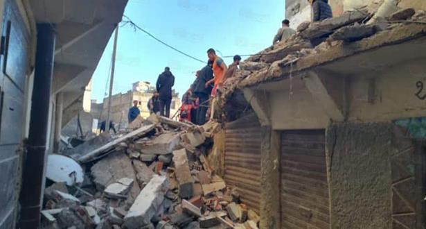 Effondrement de deux maisons menaçant ruine à Casablanca
