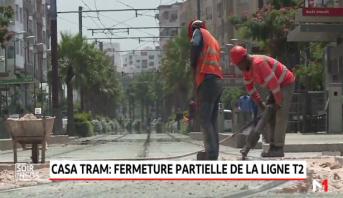 Tramway de Casablanca: la ligne T2 en partie fermée