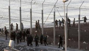 Avortement d'une tentative d'accès d'environ 400 clandestins à Sebta via le centre de Belyounech