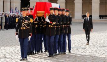 بدء جنازة الرئيس الفرنسي الأسبق جاك شيراك بحضور عشرات القادة الأجانب