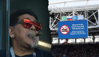 مارادونا متهم بخرق نظام ملاعب المونديال وتقديم صورة سيئة للجمهور