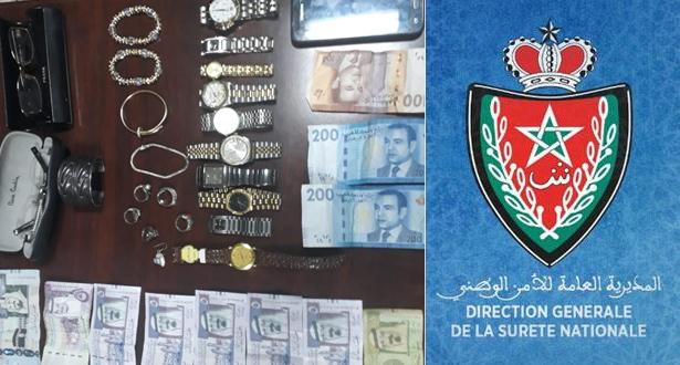 Meknès: arrestation de deux individus pour une affaire de vol de bijoux et montres de valeur