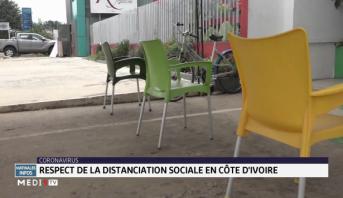 Coronavirus: respect de la distance sociale en Côte d'Ivoire