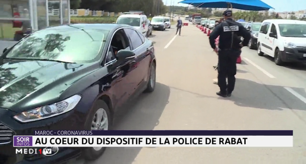 Coronavirus: au cœur du dispositif de la police de Rabat