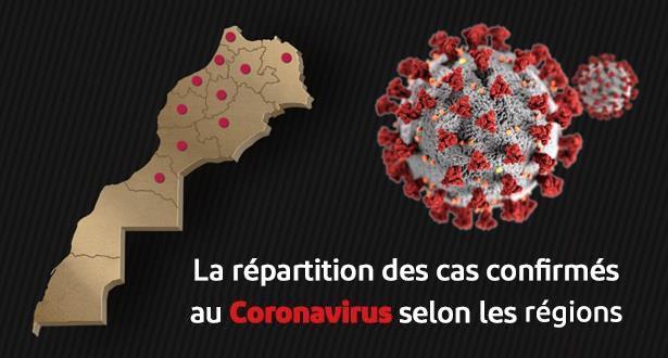 Coronavirus au Maroc: répartition géographique des cas