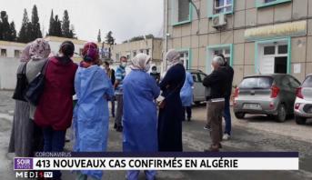 Coronavirus: 413 nouveaux cas confirmés en Algérie