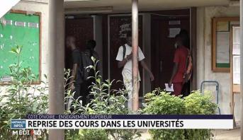 Côte d'Ivoire: reprise des cours dans les universités