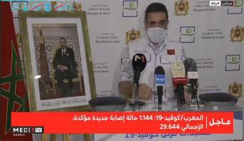 فيروس كورونا.. تسجيل 1144 إصابة جديدة مؤكدة بالمغرب