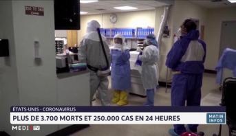 Etats Unis: plus de 3700 morts et 250000 cas de coronavirus en 24h