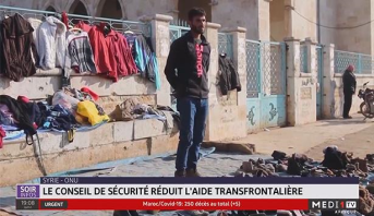 Syrie- ONU: le conseil de sécurité réduit l'aide transfrontalière