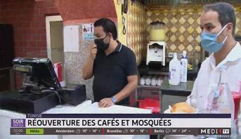 Tunisie: réouverture des cafés et mosquées
