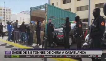 Police judiciaire: saisie de 3,5 tonnes de Chira à Casablanca