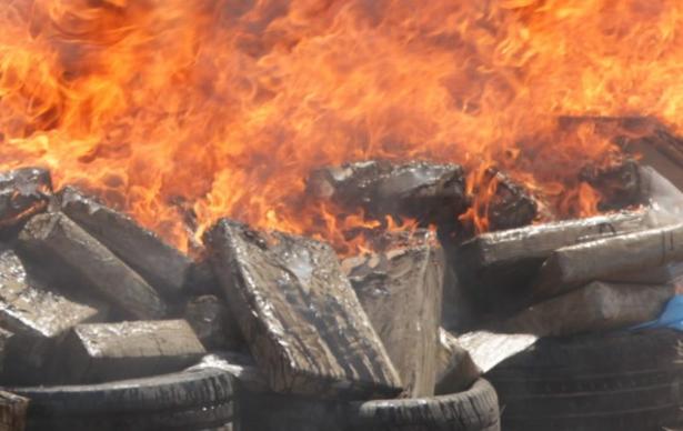 Safi : destruction d'une importante quantité de drogues saisie