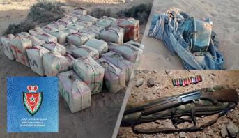 توقيف أربعة أشخاص و حجز طن و 223 كيلوغراما من مخدر الشيرا في طانطان