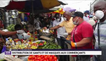 Gabon: distribution de gants et de masques aux commerçants