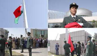 بالصور.. رفع العلم المغربي رسميا بمقر الاتحاد الإفريقي