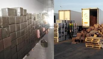 Guergarate: Saisie de 11,940 tonnes de haschich à bord d'un camion TIR à destination d'un pays africain