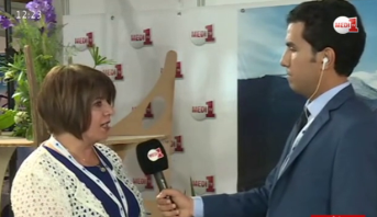 """فيديو .. موفد مدي1تيفي يستضيف أسية بوزكري في مؤتمر """"ميد كوب المناخ"""""""