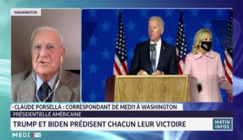 """Présidentielle américaine: Biden affirme qu'il est """"en bonne voie de gagner"""""""