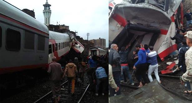 حادث اصطدام قطارين في مصر يخلف جرحى