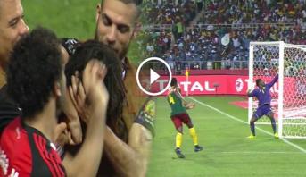 """فيديو .. الهدف الاول لمصر في النهائي والمسجل """"النيني"""" من زاوية صعبة"""