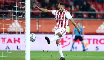 Le Marocain Youssef El Arabi s'illustre avec un doublé et reste meilleur buteur du Championnat grec