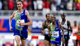 Ligue de Diamant: le Marocain Soufiane El Bakkali remporte le 3000 m steeple à Doha