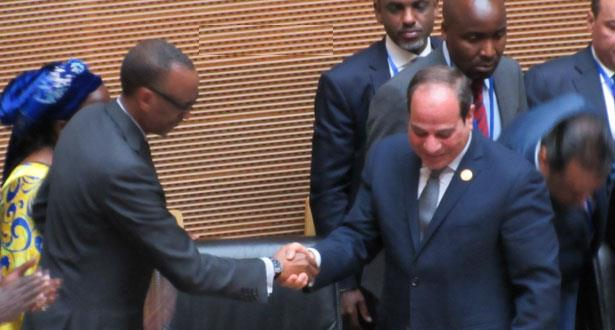 مصر تتسلم رئاسة الاتحاد الافريقي من رواندا في قمة اديس ابابا