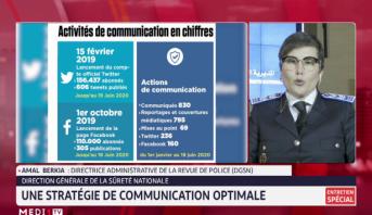 Amal Berkia dresse le bilan de la communication de la DGSN en 2020