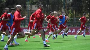 CAN-2019: première séance d'entraînement des Lions de l'Atlas au Caire
