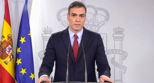 سانشيز يدعو إلى تمديد حالة الطوارئ بإسبانيا لأسبوعين إضافيين