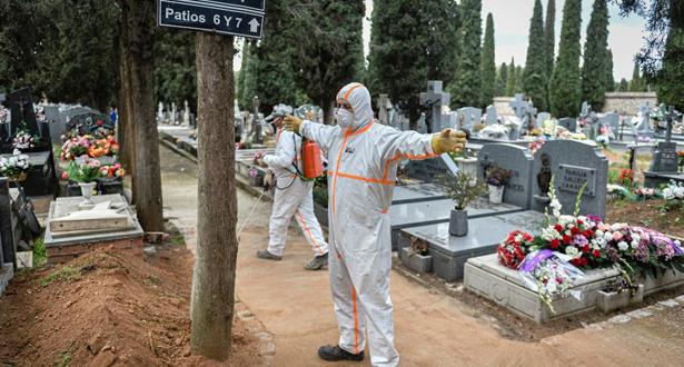 812 وفاة خلال 24 ساعة بكوفيد-19 في إسبانيا والحصيلة الإجمالية تبلغ 7340 وفاة
