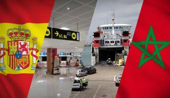 تعليق الرحلات الجوية والنقل البحري للمسافرين من وإلى إسبانيا حتى إشعار آخر