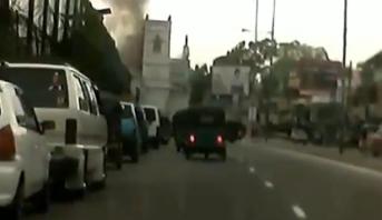مشهد صادم من سلسلة الانفجارات .. لحظة انفجار كنيسة سانت أنطوان بسريلاكا