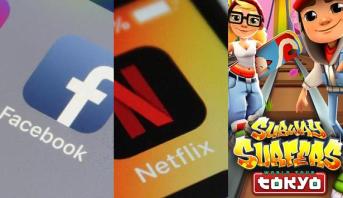 Facebook, Netflix et Subway Surfers en tête des applications mobiles de la décennie