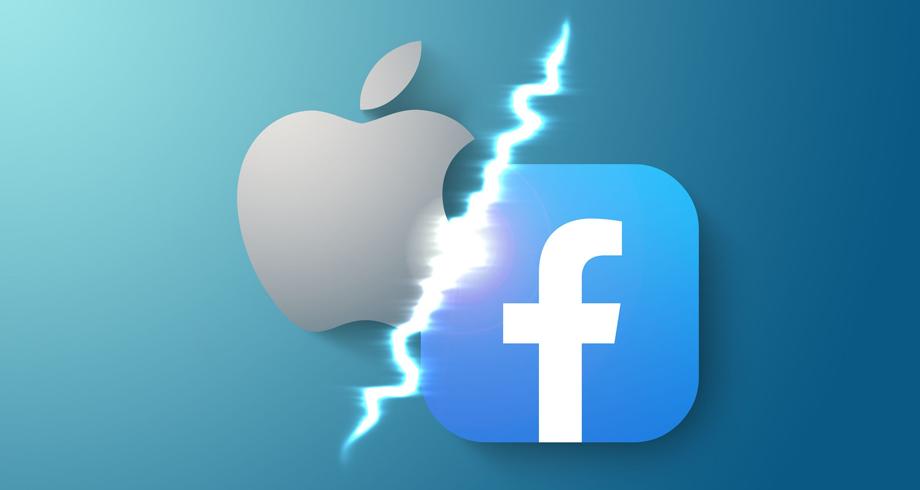 """توجه محتمل لدى """"فيسبوك"""" لمقاضاة """"آبل"""" بتهمة تقويض المنافسة"""
