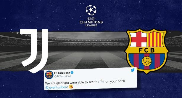 """برشلونة """"يستفز"""" يوفنتوس بتغريدة """"الأفضل في التاريخ"""" والنادي الإيطالي يرد سريعا"""