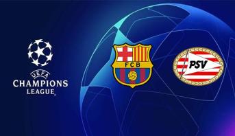 """التشكيلتان الرسميتان لبرشلونة وإيندهوفن في """"دوري الأبطال"""""""