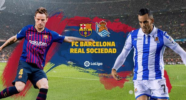 التشكيلة الرسمية لبرشلونة أمام ريال سوسييداد