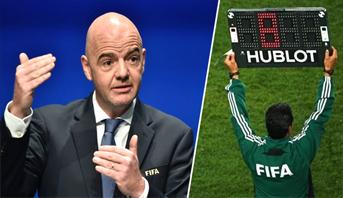 """""""الفيفا"""" تسمح مؤقتا بخمسة تبديلات في مباريات كرة القدم بعد استئنافها"""