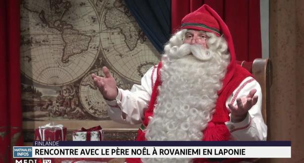 Rencontre avec le père Noël à Rovaniemi en Laponie